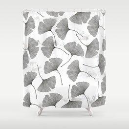 ginkgo biloba pattern Shower Curtain