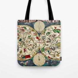 Vintage Celestial Map 1670 Tote Bag
