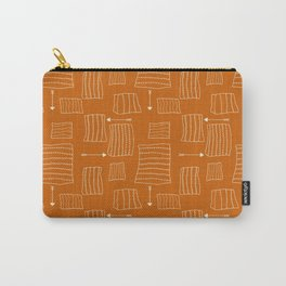 Tribal Arrows and Squares, Primitive Pattern Carry-All Pouch