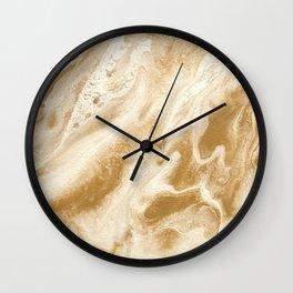 fools gold | fluid acrylics Wall Clock