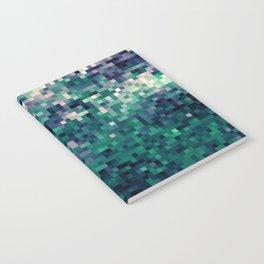 Indigo Green Pixel Ombre Notebook