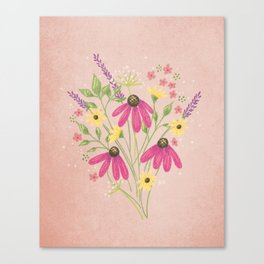 Wildflowers Spring Bouquet Canvas Print