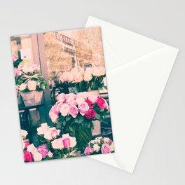 Paris flower market Stationery Cards