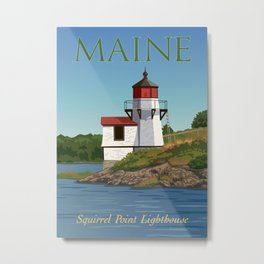 Squirrel Point Lighthouse Maine Metal Print