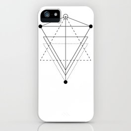 Triangle planets geometry white iPhone Case