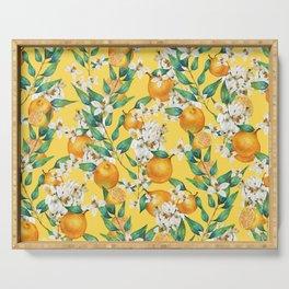 Lemon and lemon flowers blossom - YBG Serving Tray