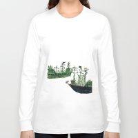 ships Long Sleeve T-shirts featuring Ships by kiwiroom