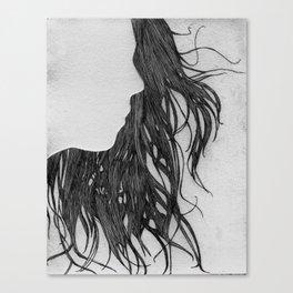Hair in Profile Canvas Print