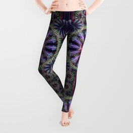 Artistic geometric graphic abstract design with textures Leggings