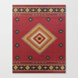 (N14) Red Anthropologie Oriental Moroccan Traditional Artwork. Canvas Print