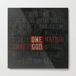 The Pledge of Allegiance Metal Print