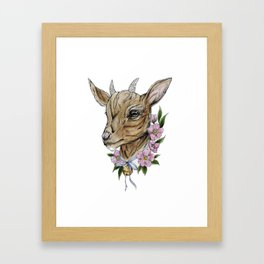 Billie goat Framed Art Print