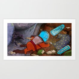 Space and the Wizard Art Print