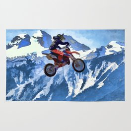 Mountain View - Dirt-bike Racer Rug
