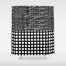 Circles and Grids Shower Curtain