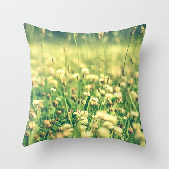 My Heart Was Wrapped in Clover (the night I looked at you) Throw Pillow