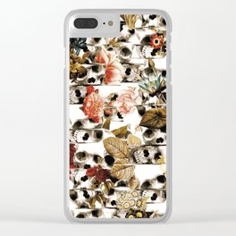 Glitch Fall Clear iPhone Case