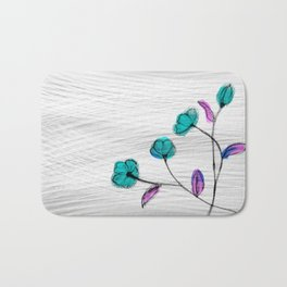 Flower in the wind Bath Mat