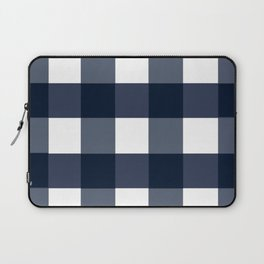 Navy Buffalo Check Laptop Sleeve