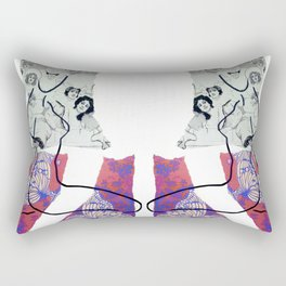 Butterflies in the Meadow III Rectangular Pillow