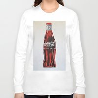 coca cola Long Sleeve T-shirts featuring Coca-Cola by Marta Barguno Krieg
