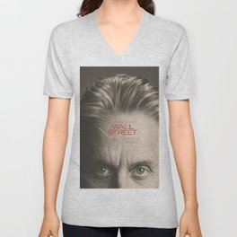 Wall Street, alternative movie poster, Gordon Gekko, Oliver Stone, film, minimal fine art playbill Unisex V-Neck