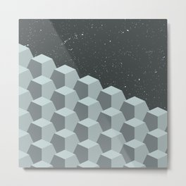 GEOMETRIC GRAYSCALE Metal Print