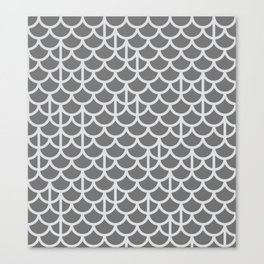 Strict Mermaid Scales Grey Canvas Print
