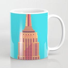 Empire State Building New York Art Deco - Cyan Coffee Mug