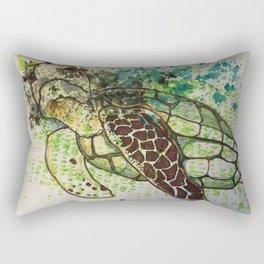 Hawksbill Sea Turtle Rectangular Pillow