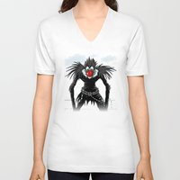 magritte V-neck T-shirts featuring Ryuk Magritte by le.duc