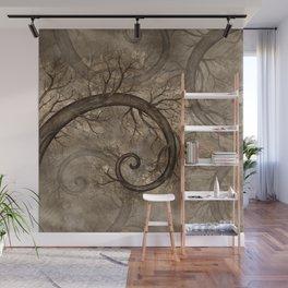 Golden Spiral Tree #2 Wall Mural