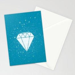 Space Diamond (blue) Stationery Cards