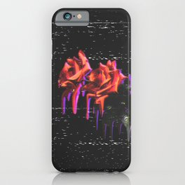 Dripping Grunge Rose iPhone Case