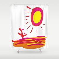 desert Shower Curtains featuring Desert by salamandra7