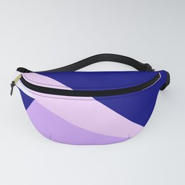 Modern geometric navy blue lilac lavender pink triangles Fanny Pack