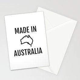 Made in Australia - Australian Map Stationery Cards