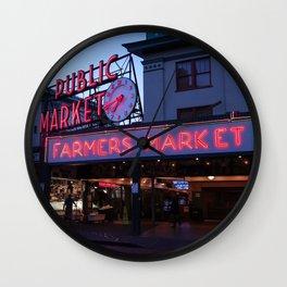 Public Market, Seattle WA Wall Clock