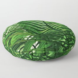 Fine Art Chic Palm Leaves Elegant Close-Up Floor Pillow