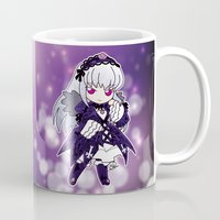 chibi Mugs featuring Chibi Suigintou by Yue Graphic Design