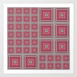 """Grandma's pink blanket"" Art Print"