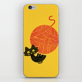 Fitz - Happiness (cat and yarn) iPhone Skin