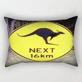 Kangaroo road Sign Rectangular Pillow