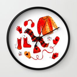 Baby It's Cold Outside - Winter Warmers Watercolor Wall Clock