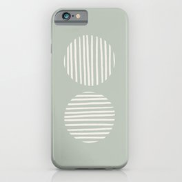 Inverted Circle Lines iPhone Case