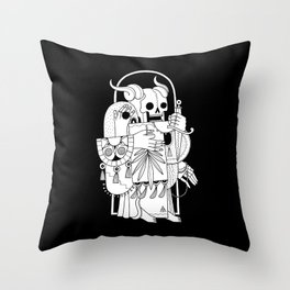 Death's Journey Throw Pillow