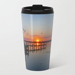 Sunset In Chincoteague Island Travel Mug