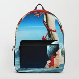 Classic Campari Alcoholic Angel & Devil - Earth, Sun, and Stars Aperitif Advertising Vintage Poster Backpack