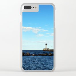 Breakwater of Lake Superior Clear iPhone Case
