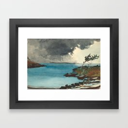 Winslow Homer. The Coming Storm. 1901 Framed Art Print